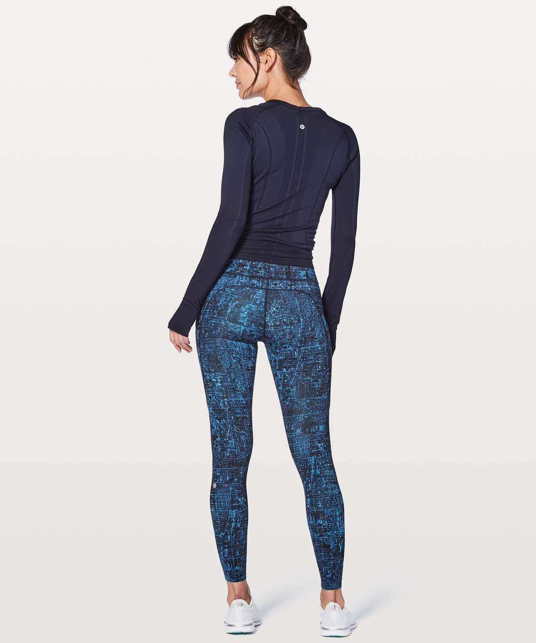 "Lululemon Fast & Free 7/8 Tight II *Nulux 25"" - City Lights Multi Black"