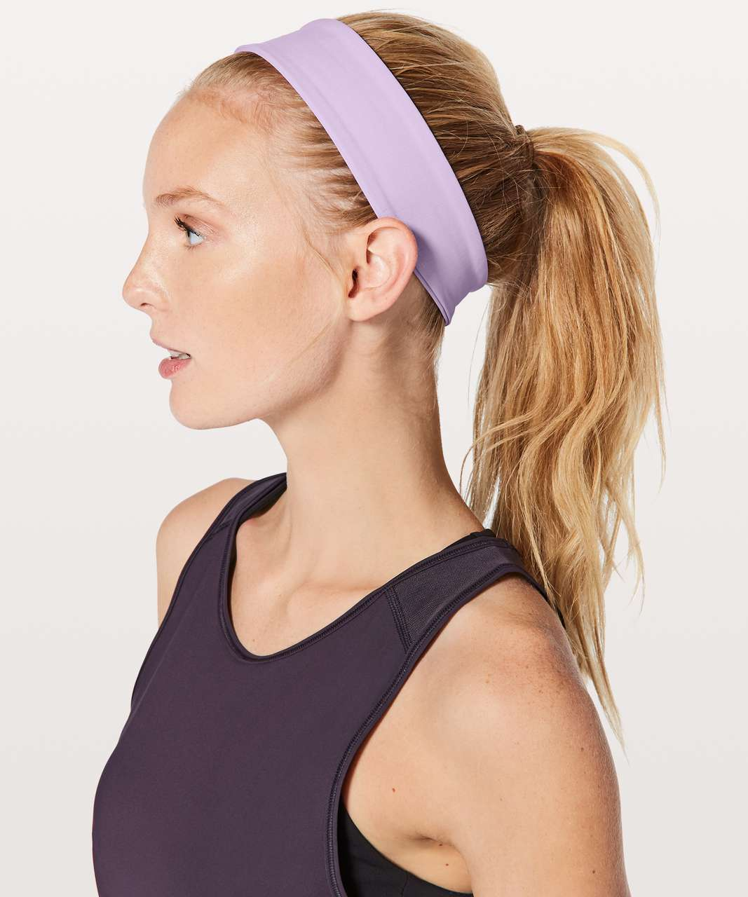 Lululemon Fly Away Tamer Headband II *Luxtreme - Lilac Quartz