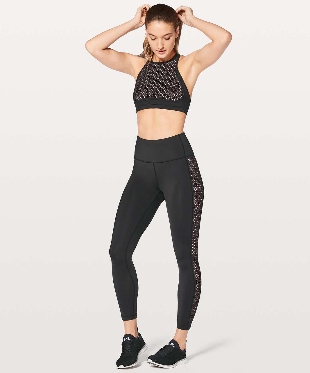 "Lululemon Colour Me Quick 7/8 Tight 25"" - Black / Flash Light Tone"