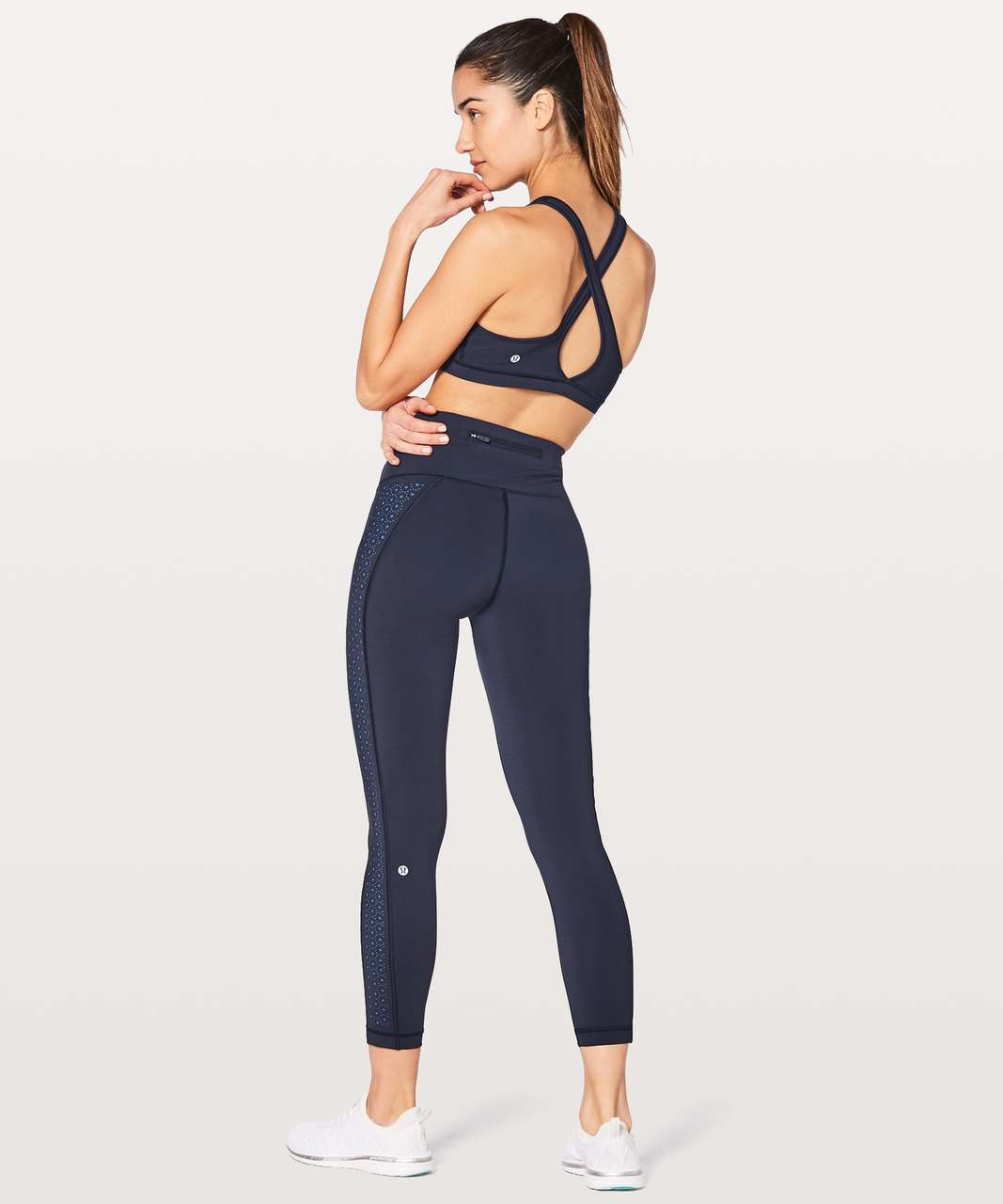 "Lululemon Colour Me Quick 7/8 Tight 25"" - Midnight Navy / Blazer Blue"