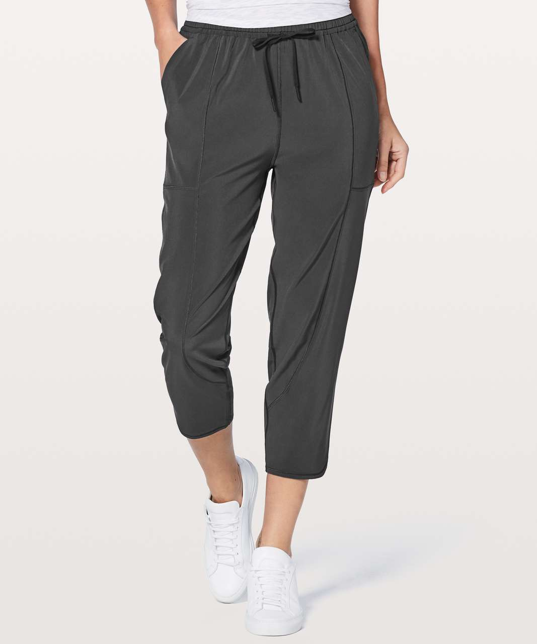 "Lululemon Final Play Crop 23"" - Deep Coal"
