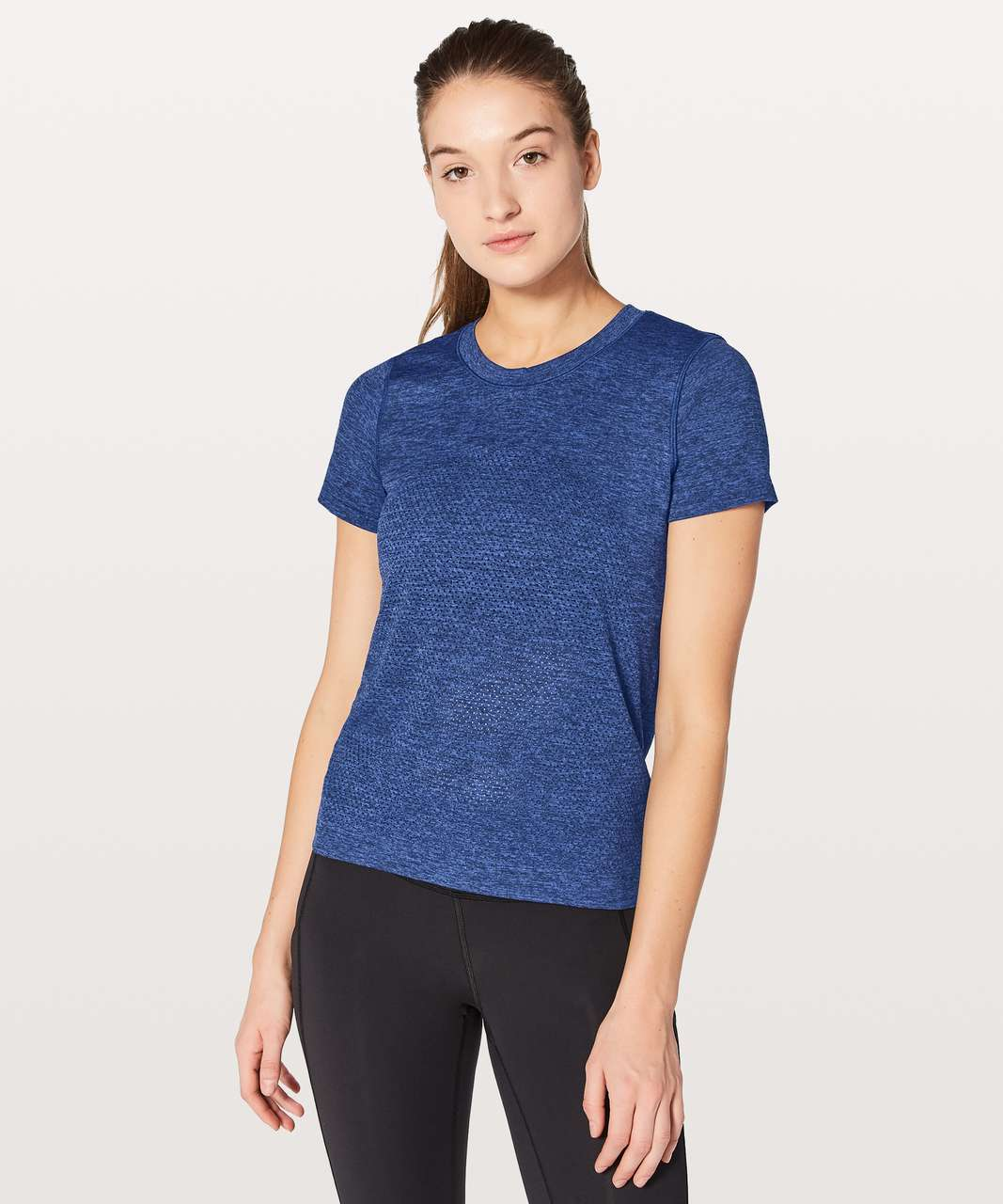 Lululemon Breeze By Short Sleeve - Blazer Blue / Black
