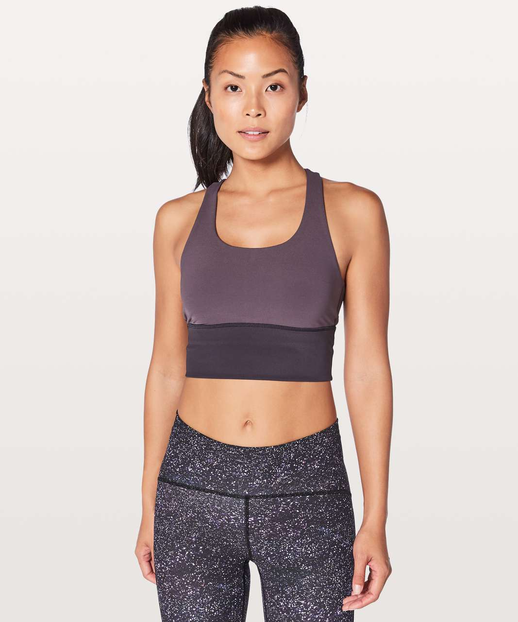 Lululemon Invigorate Bra Long Line - Black Currant / Boysenberry