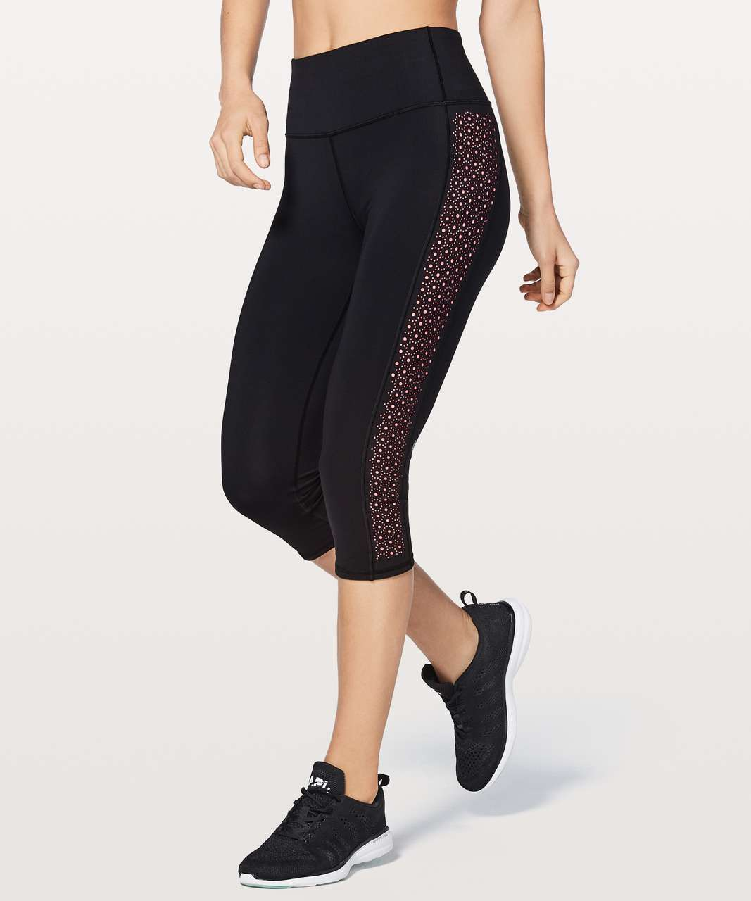 "Lululemon Colour Me Quick Crop 17"" - Black / Flash Light Tone"