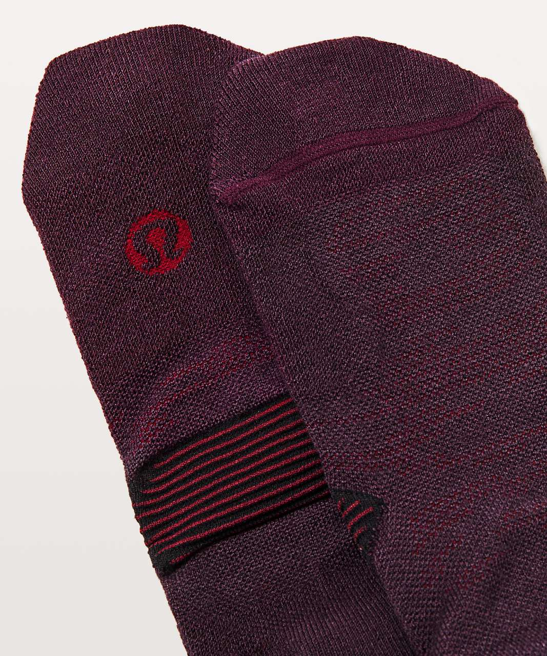 Lululemon Speed Sock Wool - Black Cherry / Deep Rouge