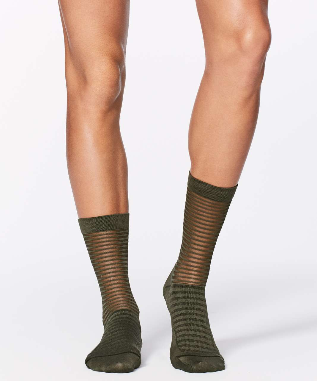 Lululemon Light On Your Toes Sock - Dark Olive