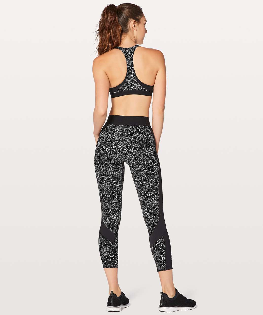 Lululemon Box It Out Tight - Night View White Black / Black