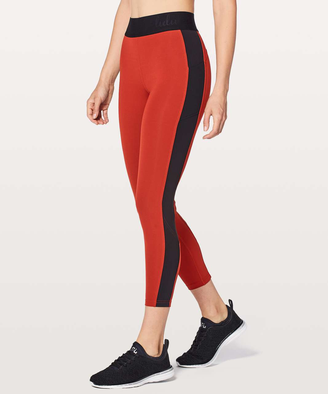 Lululemon Box It Out Tight - Bonfire / Black