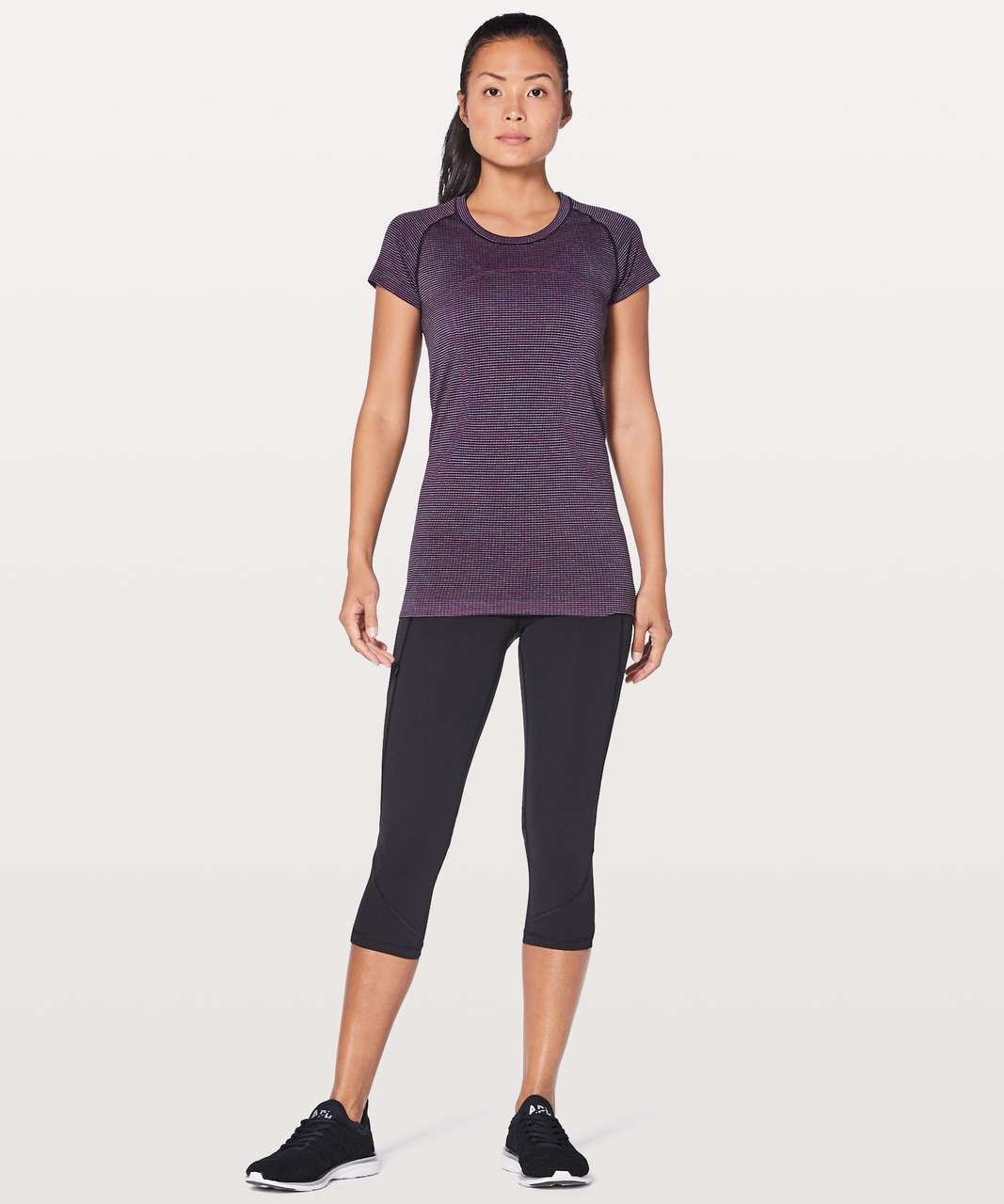 Lululemon Swiftly Tech Short Sleeve Crew - Pink Paradise / Black / Lavender / Blue