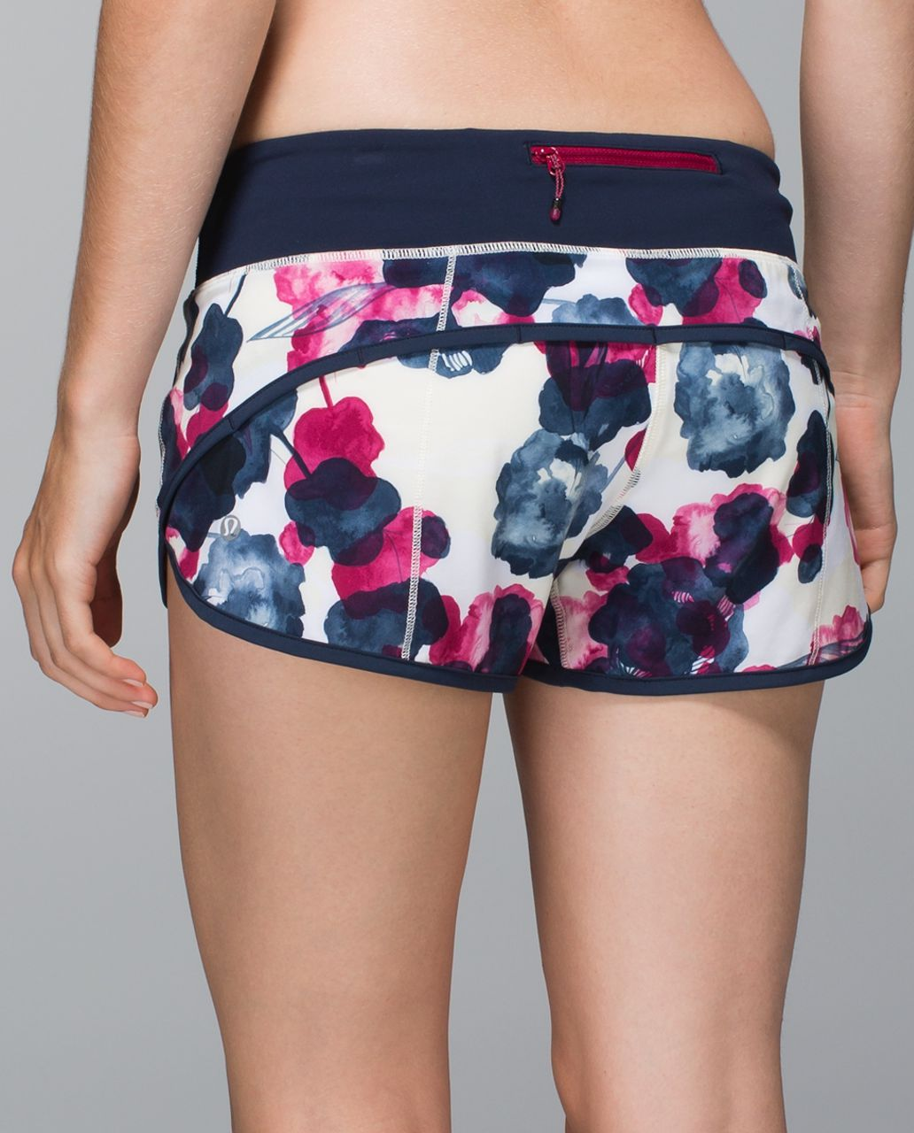 Lululemon Run:  Speed Short *4-way Stretch - Inky Floral Ghost Inkwell Bumble Berry / Inkwell