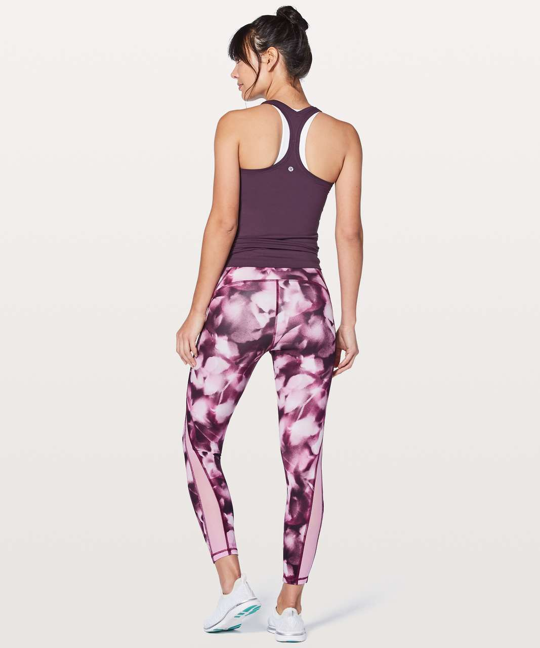 "Lululemon Train Times 7/8 Pant *25"" - Blush Blossom Alpine White Candy Pink"