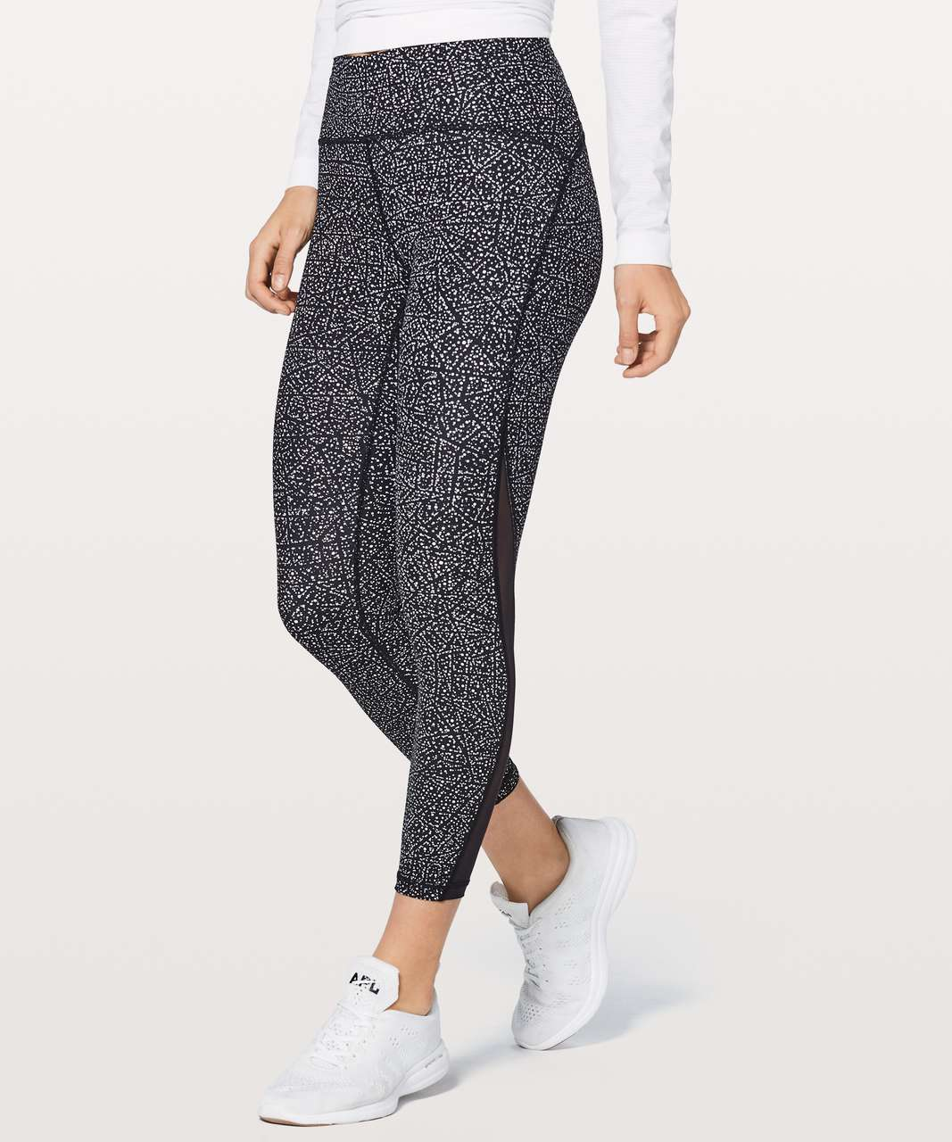 "Lululemon Train Times 7/8 Pant 25"" - Night View White Black / Black"