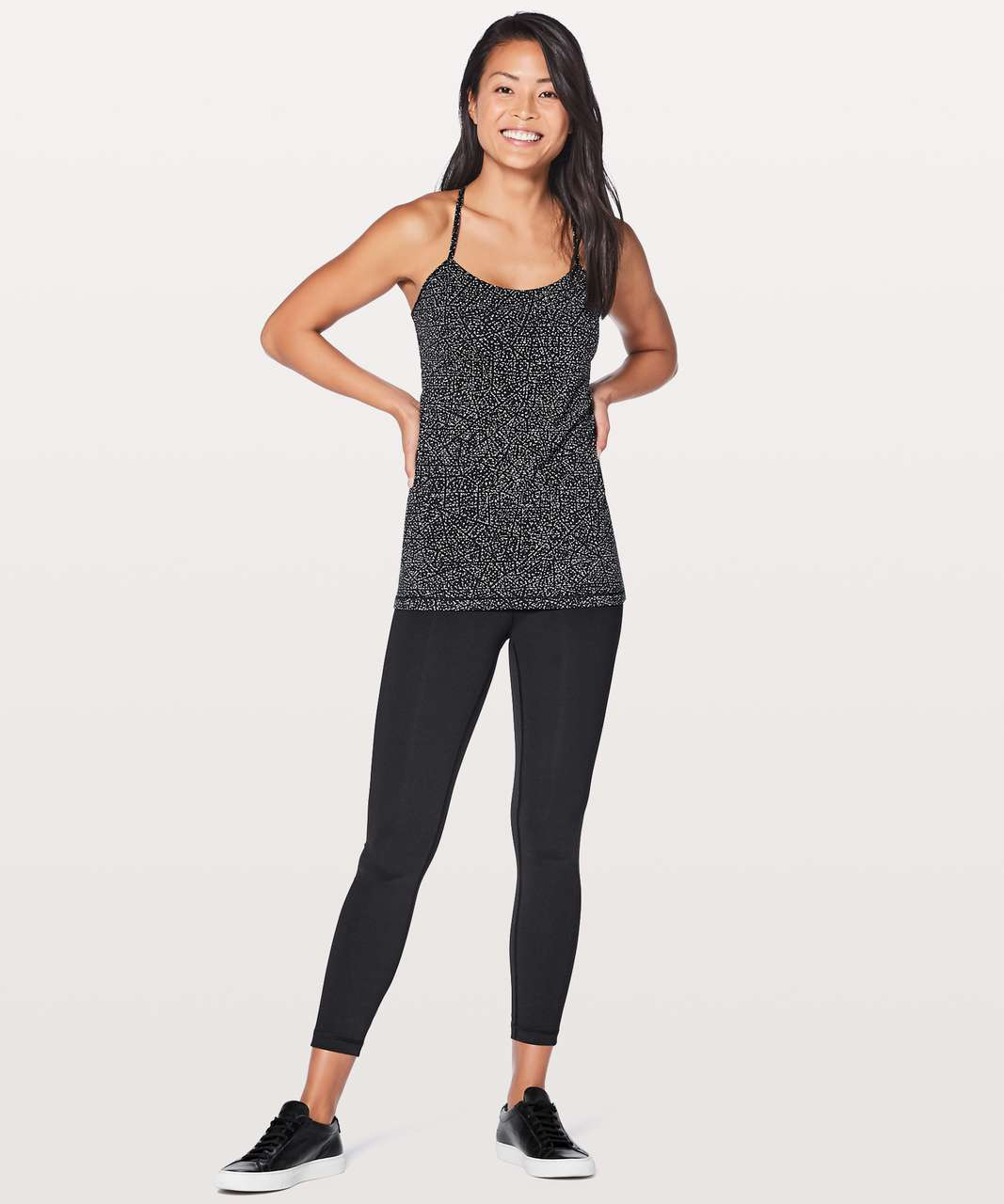 Lululemon Power Pose Tank *Light Support For A/B Cup - Night View White Black