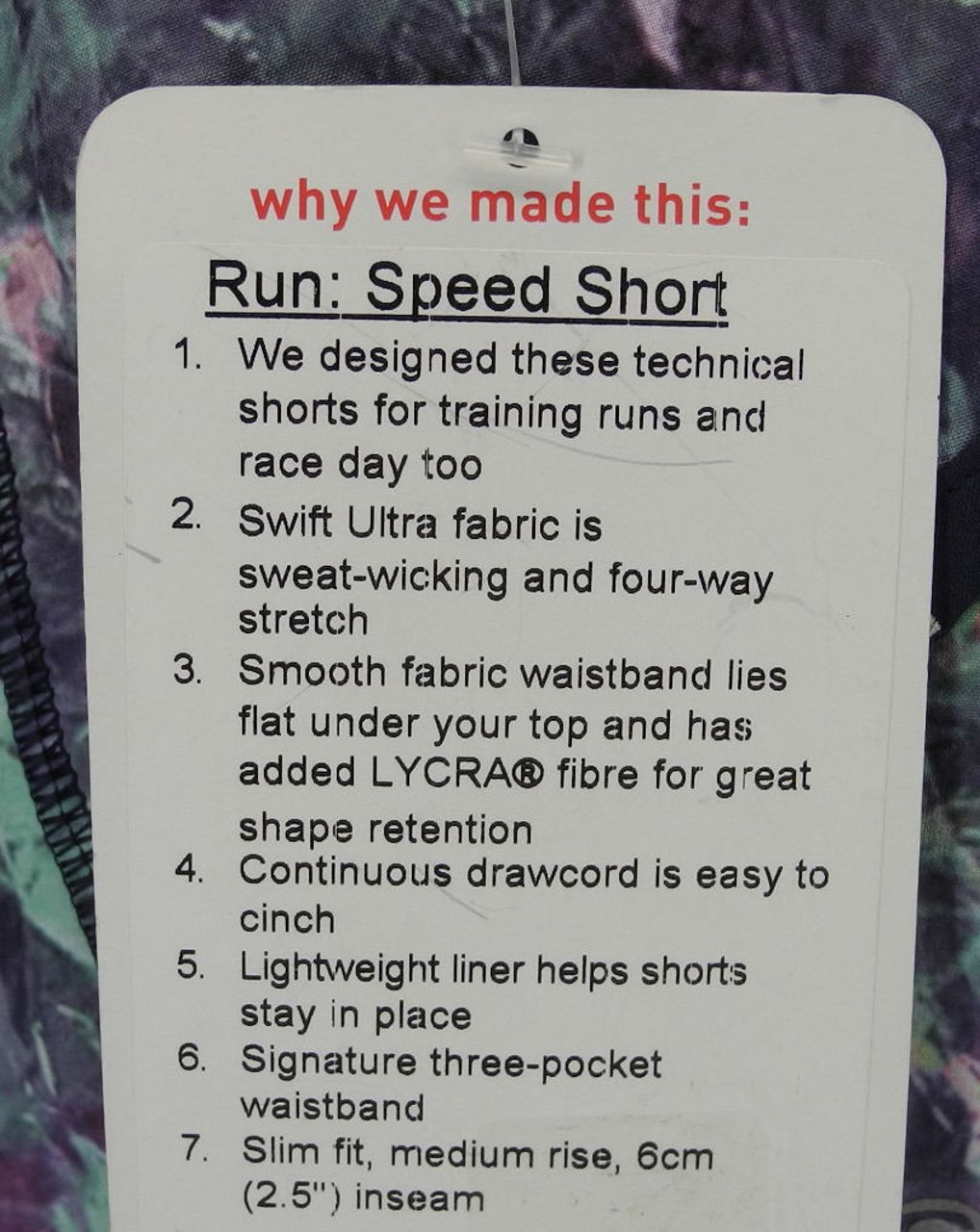 Lululemon Run:  Speed Short *4-way Stretch - Iridescent Multi / Deep Navy