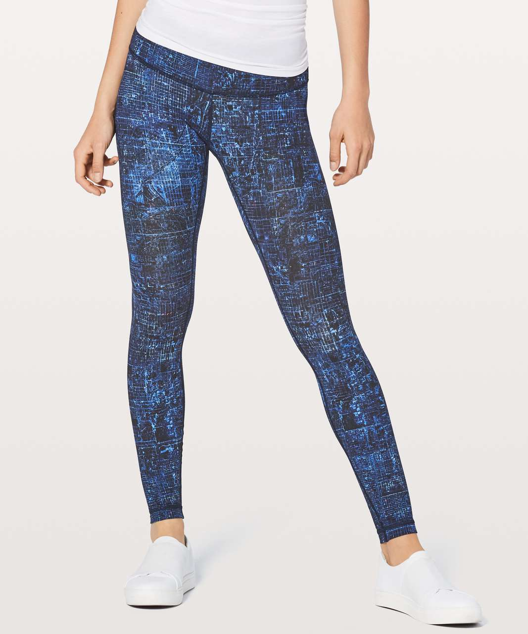 "Lululemon Wunder Under Low-Rise Tight *Full-On Luxtreme 28"" - City Lights Multi Black"
