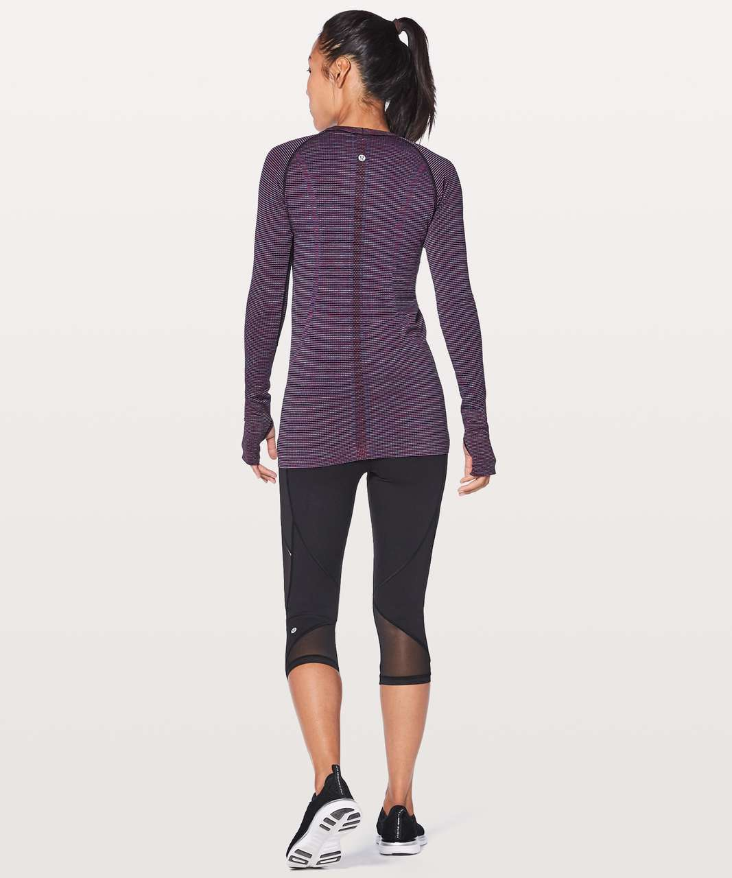 Lululemon Swiftly Tech Long Sleeve Crew - Pink Paradise / Black / Lavender / Blue