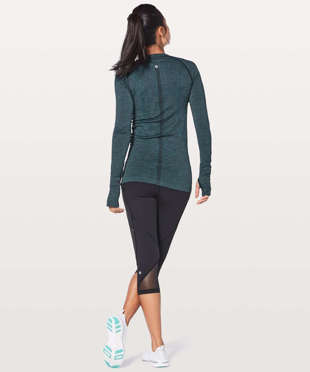 Lululemon Swiftly Tech Long Sleeve Crew - Dark Maritime / Black / Lavender / Blue