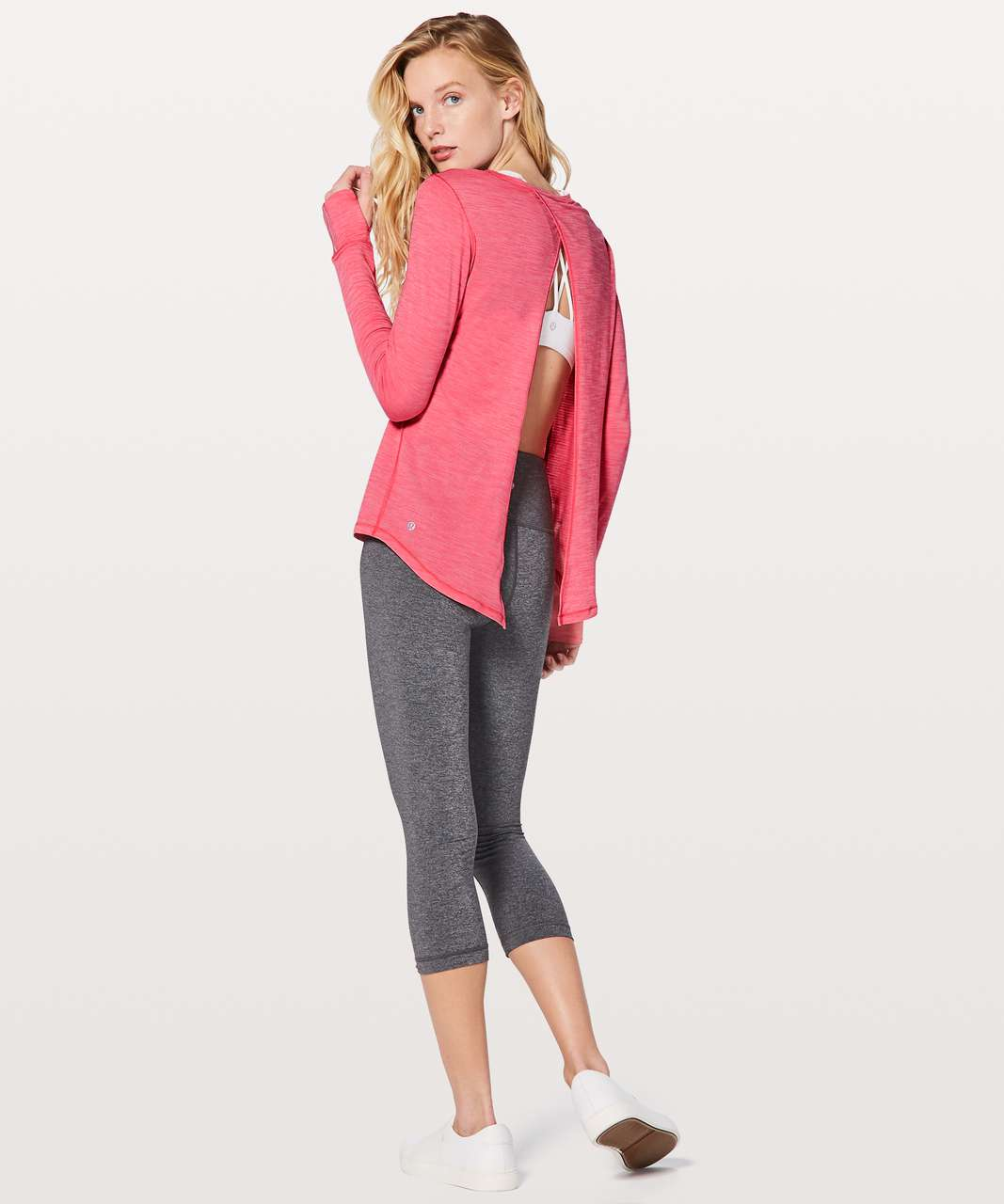 Lululemon Beat The Heat Long Sleeve - Heathered Flash Light Tone