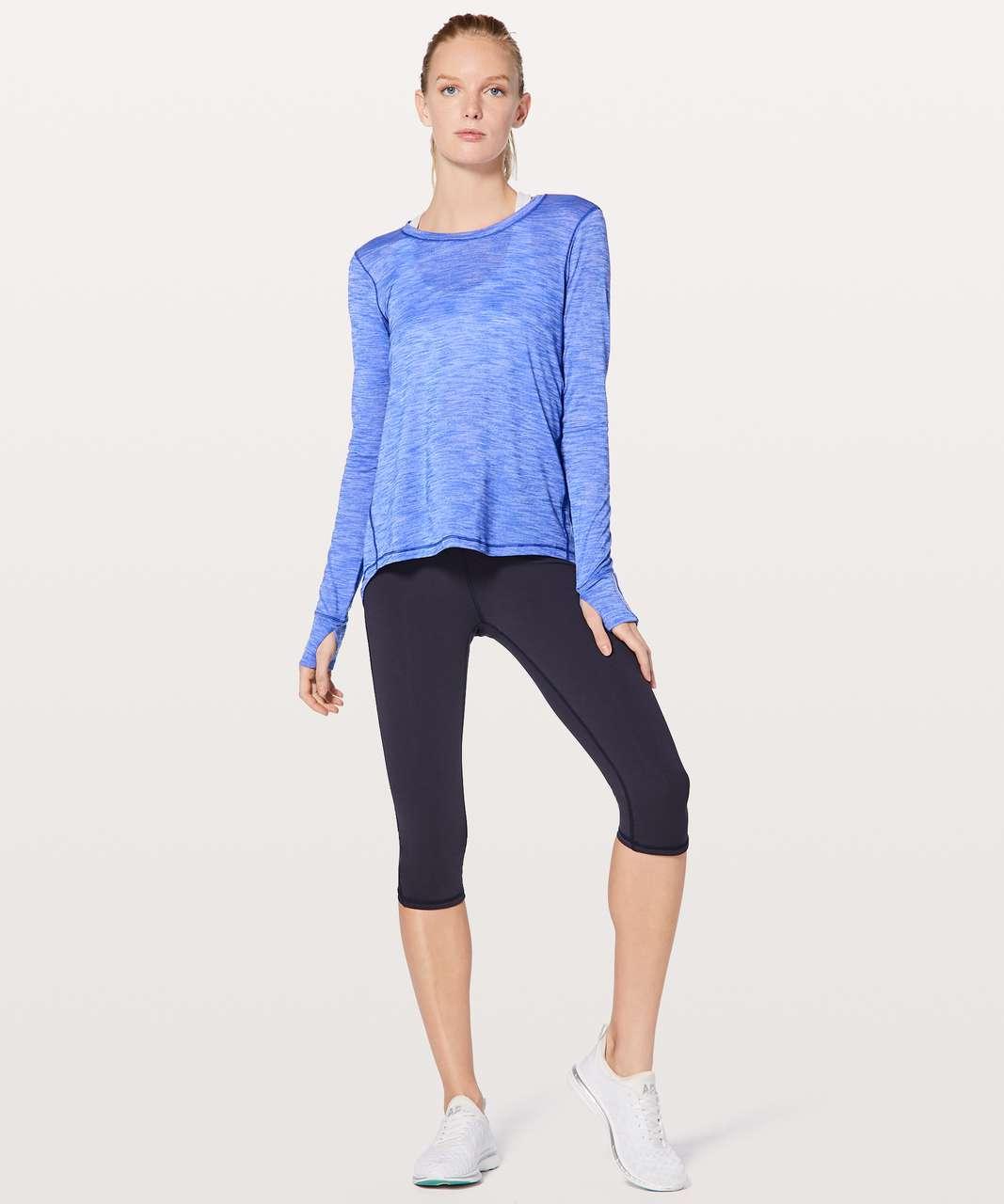 Lululemon Beat The Heat Long Sleeve - Heathered Blazer Blue