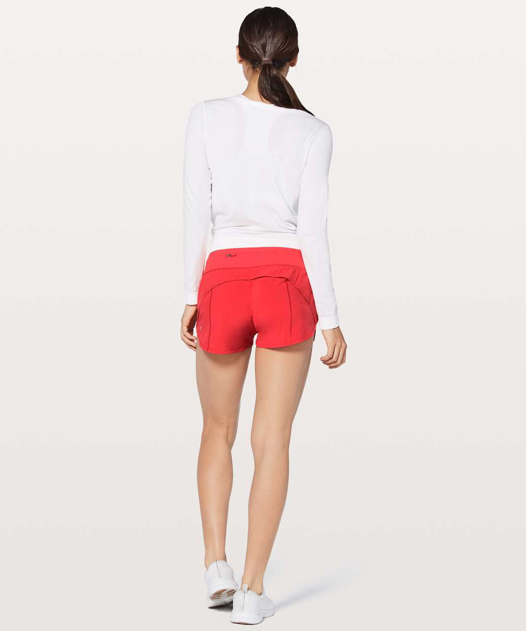 "Lululemon Speed Up Short Long 4"" - Vivid Flame"