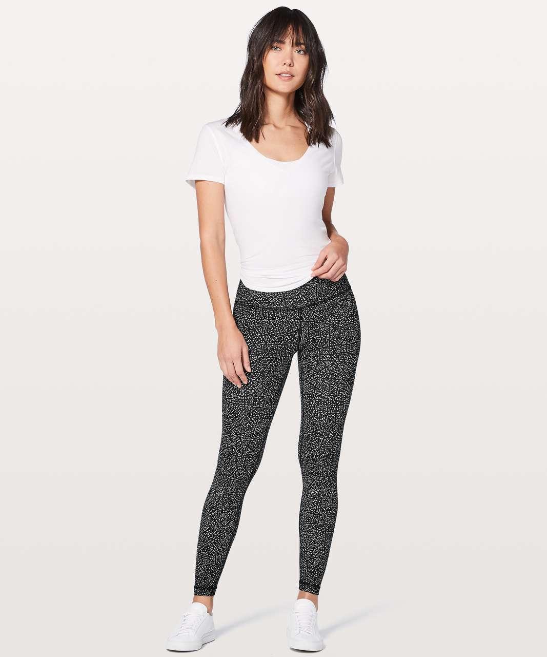 """Lululemon Align Pant Full Length 28"""" - Night View White Black"""