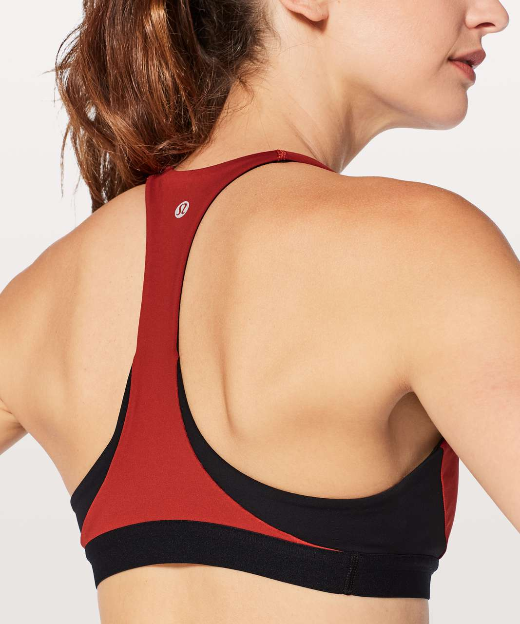 Lululemon Box It Out Bra - Bonfire / Black