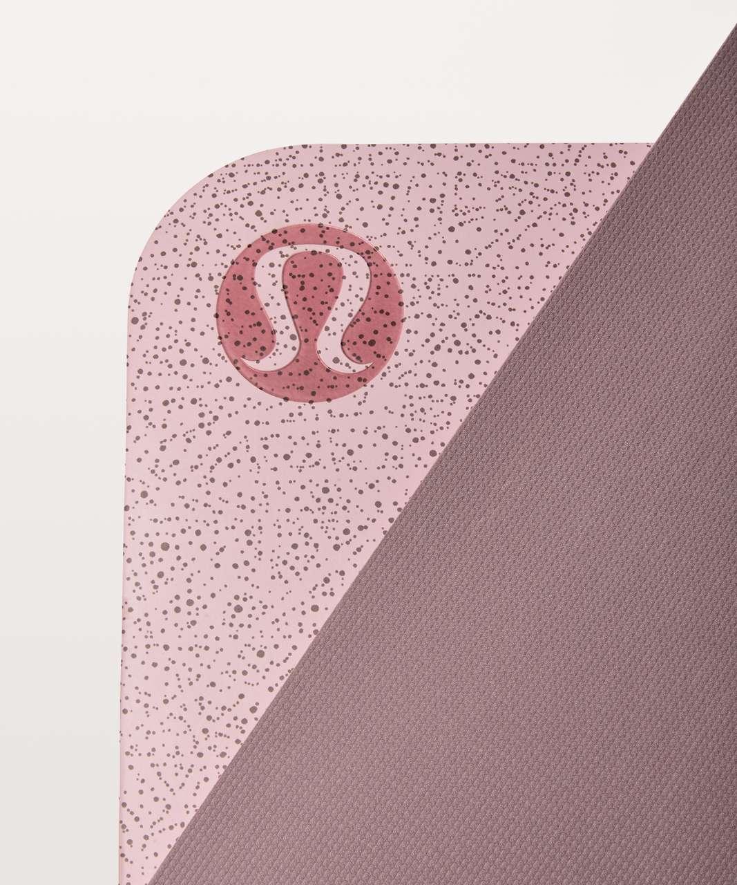 Lululemon The Reversible Mat 3mm - Night View Porcelain Pink Misty Mauve / Misty Mauve