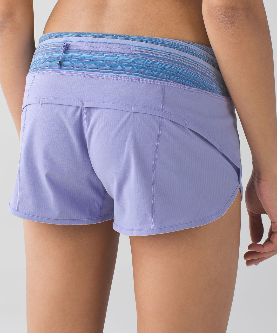 Lululemon Speed Short *4-way Stretch - Lilac / Wave Twist Lilac Caspian Blue