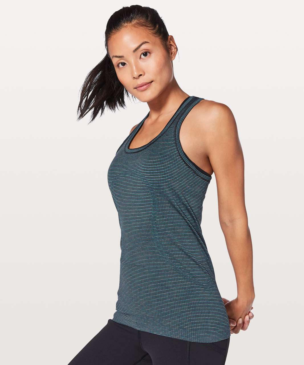 Lululemon Swiftly Tech Racerback - Dark Maritime / Black / Lavender / Blue