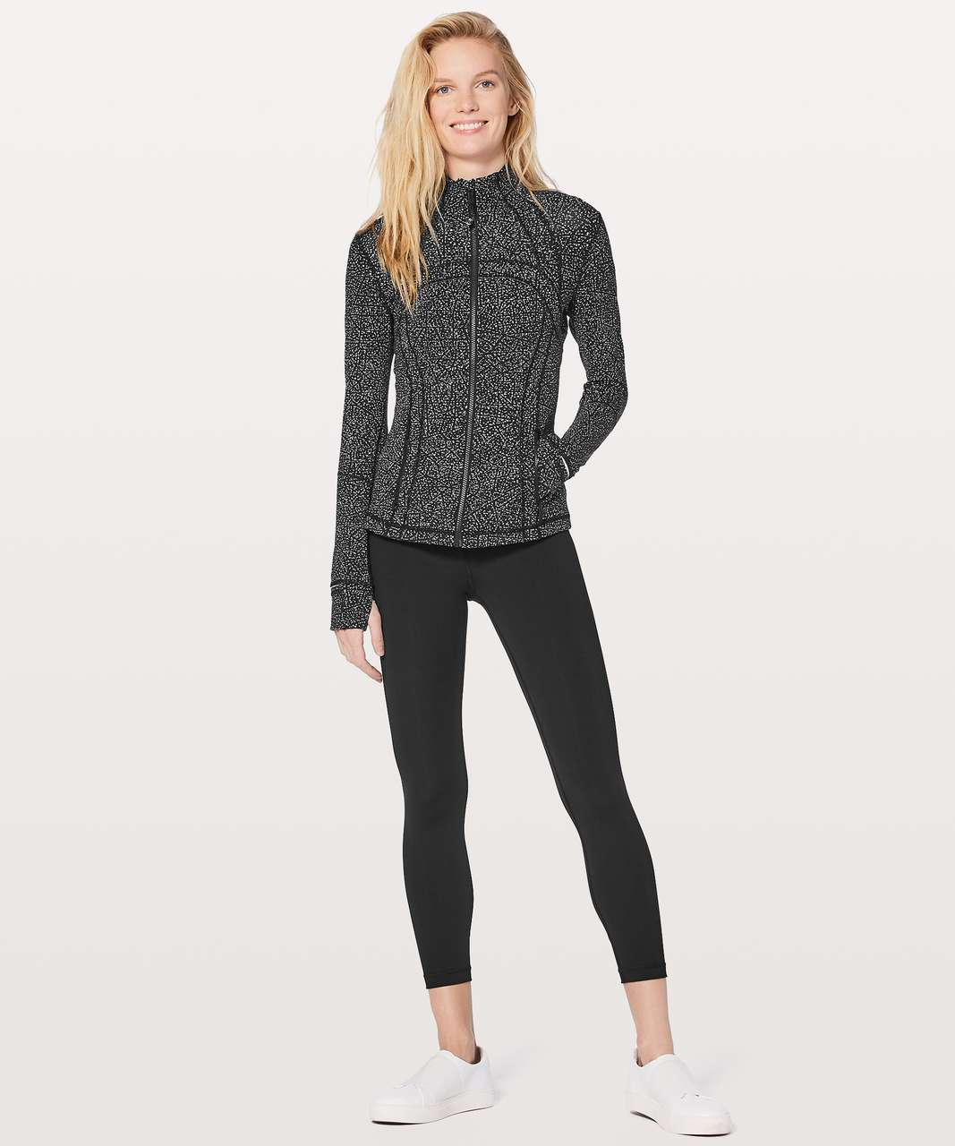 Lululemon Define Jacket - Night View White Black