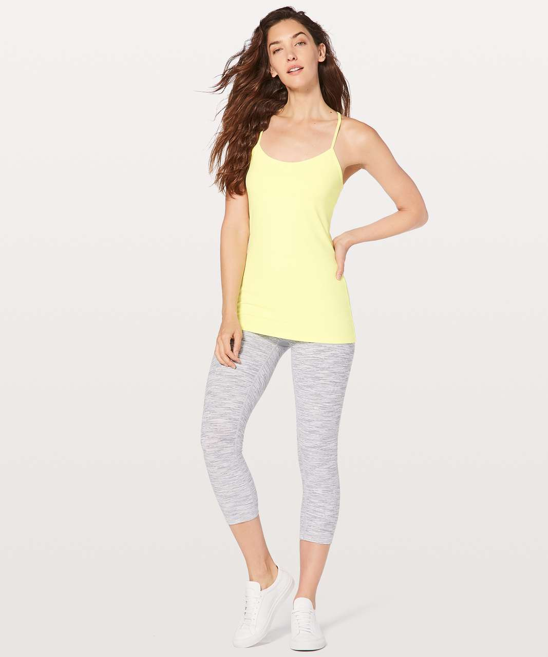 Lululemon Power Pose Tank Light Support For A/B Cup - Sheer Lemon