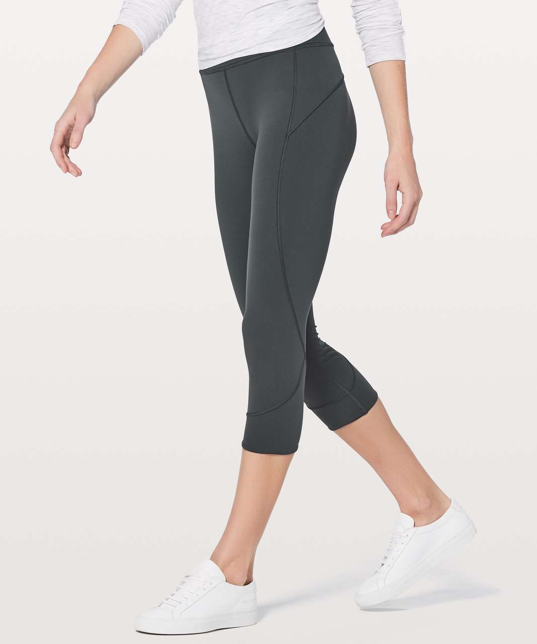 "Lululemon In Movement Crop *Everlux 19"" - Deep Coal"