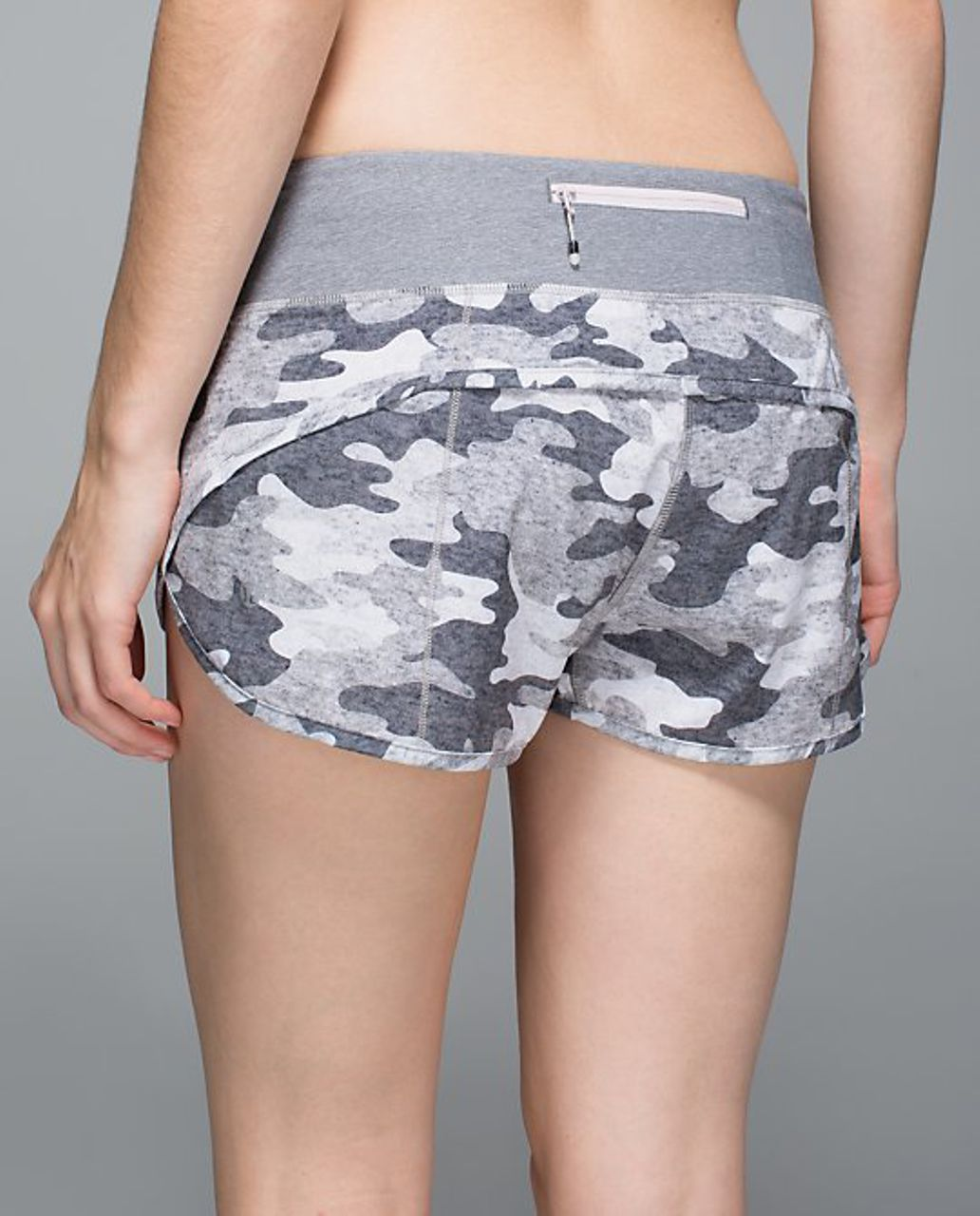 Lululemon Speed Short - Lotus Camo Remix Heathered Slate Multi Neutral Blush