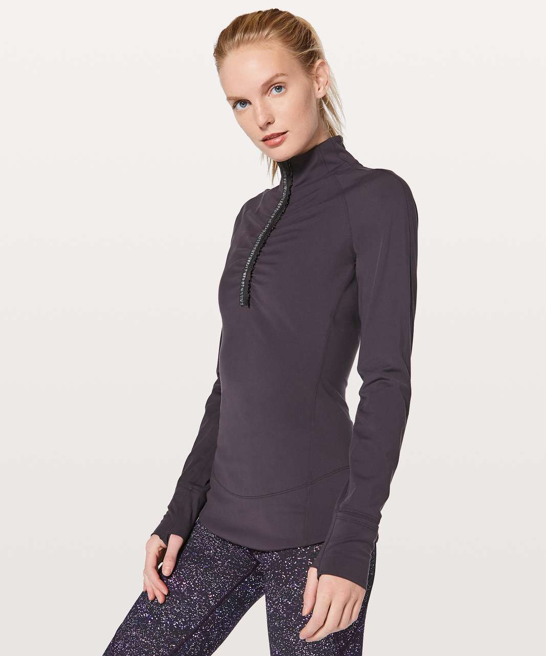 Lululemon Fast As Light 1/2 Zip - Boysenberry