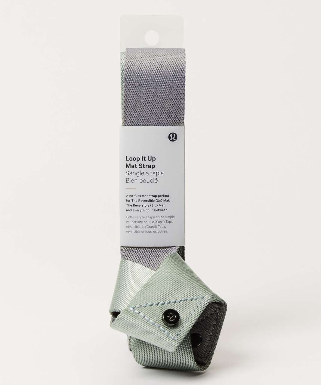 Lululemon Loop It Up Mat Strap - Minty Grey / Earl Grey