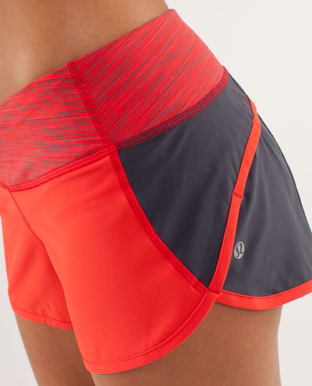 Lululemon Run:  Speed Short - Love Red / Coal / Wee Are From Space Love Red Coal