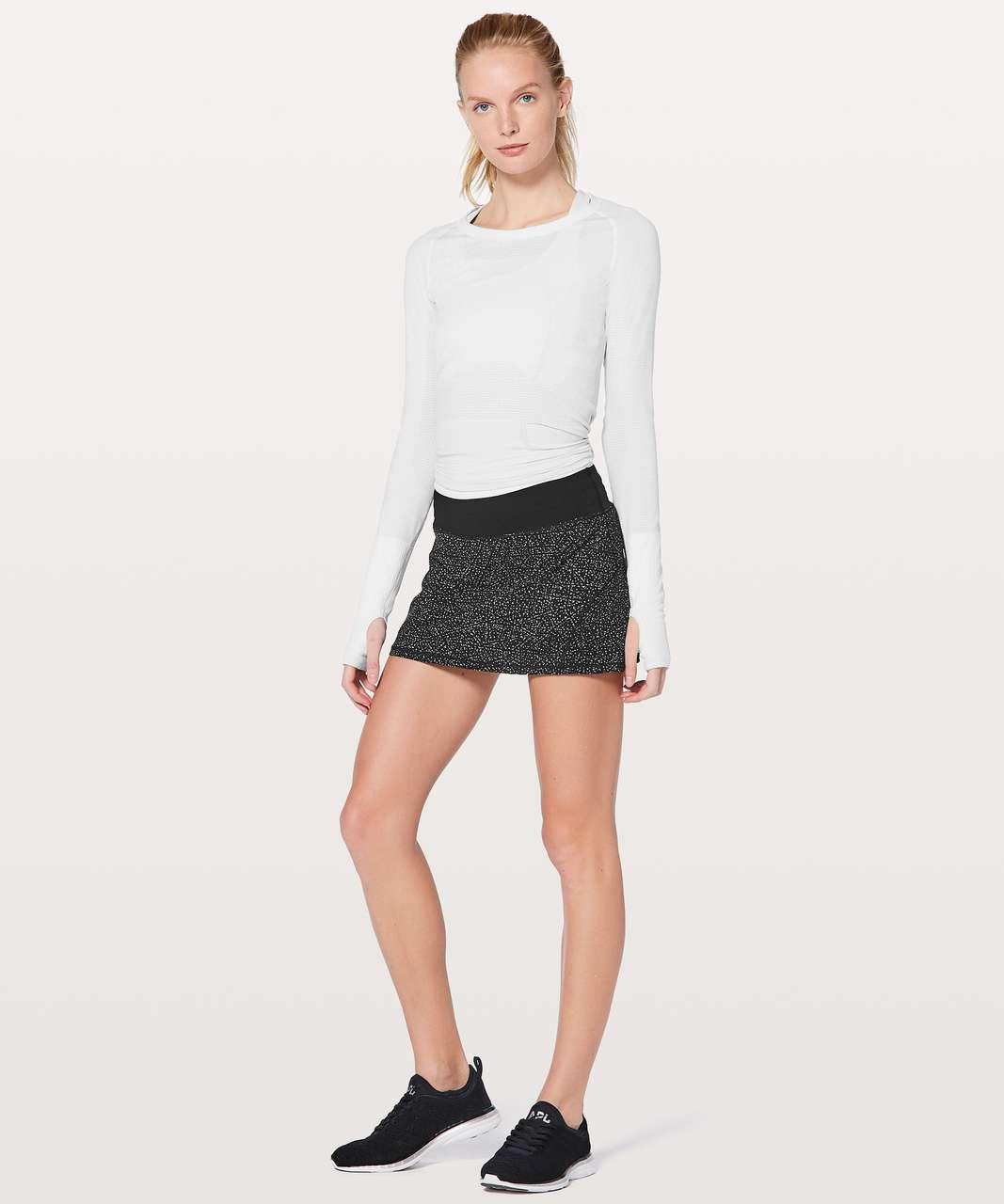 """Lululemon Circuit Breaker Skirt II (Regular) 13"""" - Night View White Black / Black"""