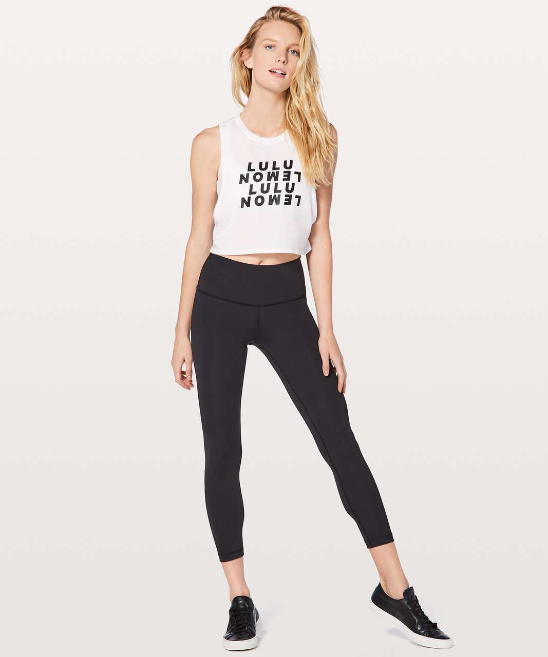 Lululemon Muscle Love Crop Tank *Expression - White