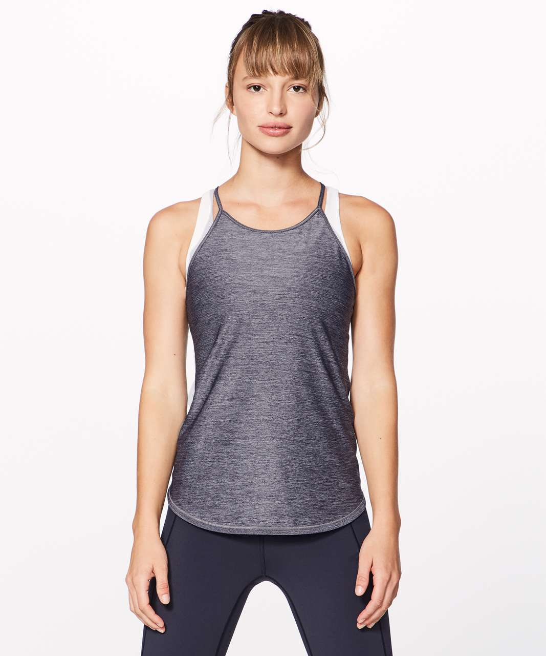 Lululemon Fast As Light Singlet - Heathered Midnight Navy