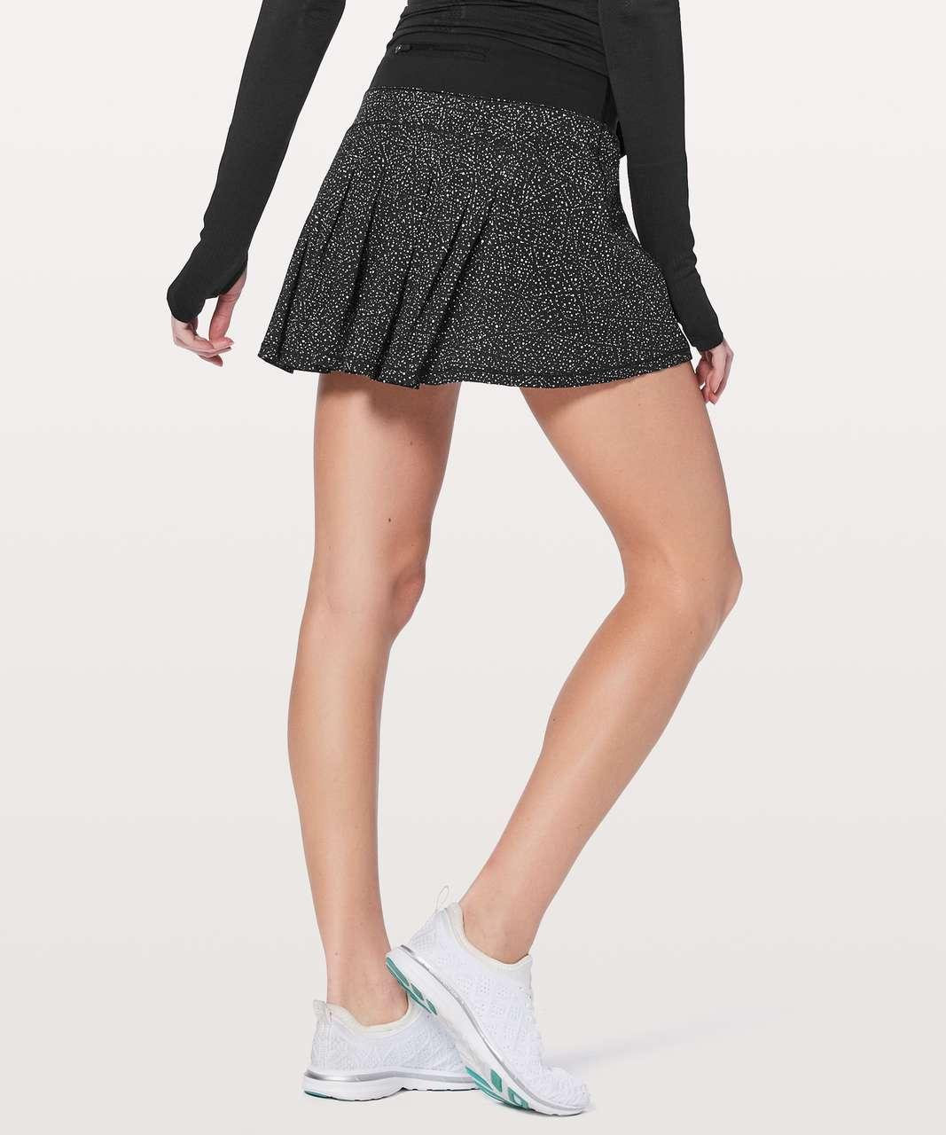 """Lululemon Circuit Breaker Skirt II (Tall) 15"""" - Night View White Black / Black"""