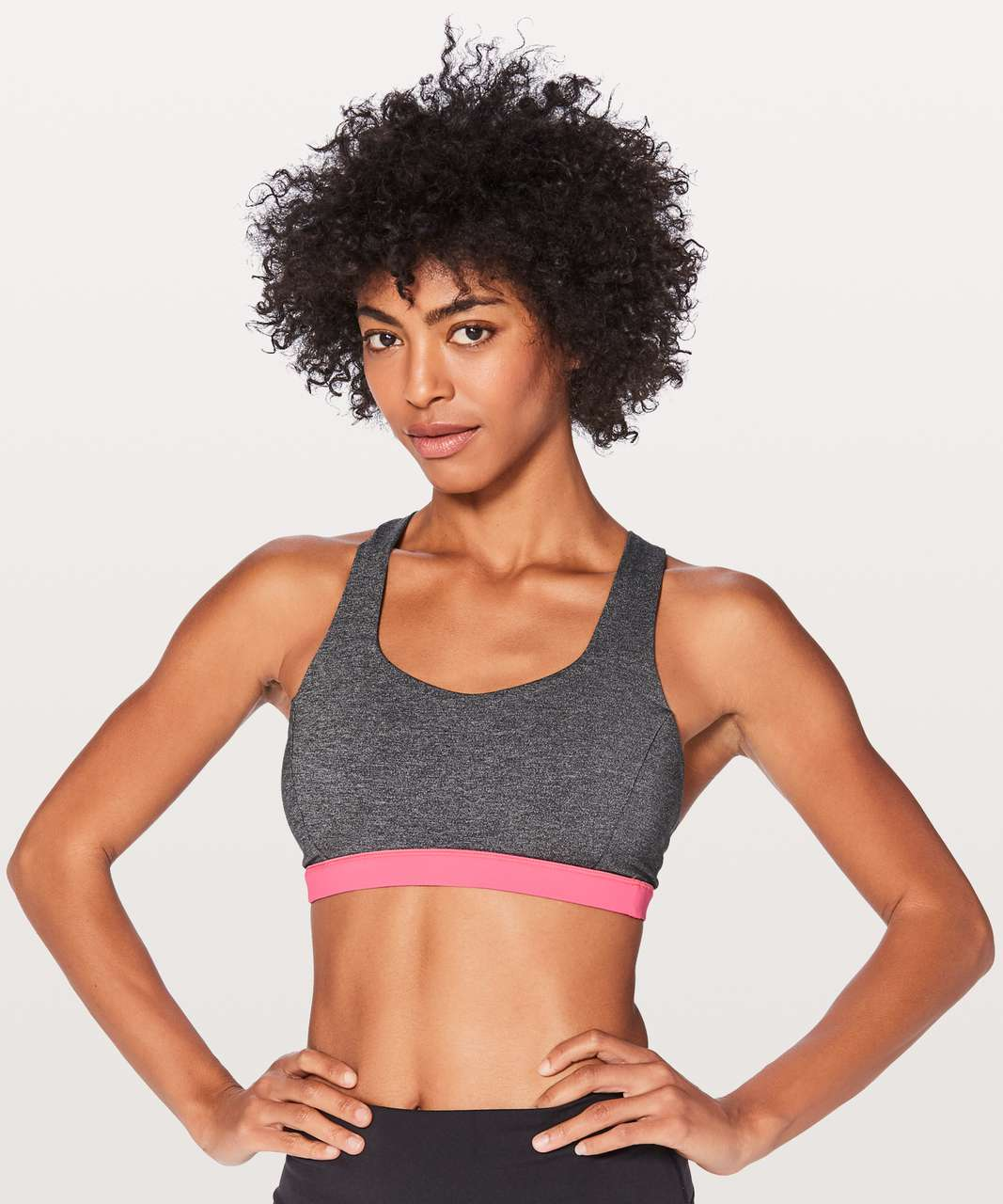 Lululemon Free To Be Serene Bra - Heathered Black / Flash Light Tone