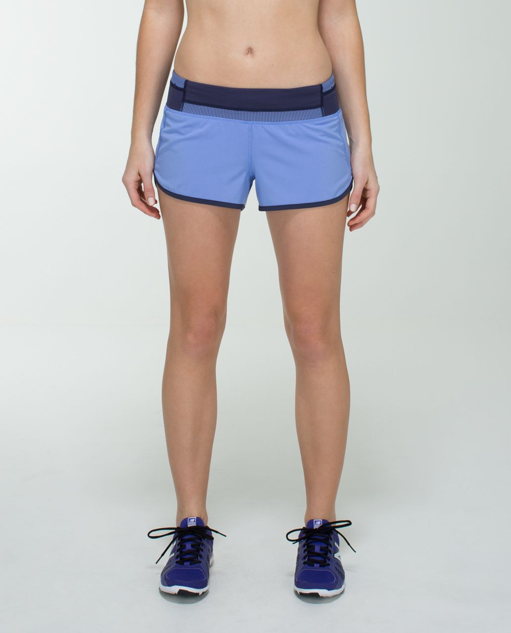Lululemon Run:  Speed Short *4-way Stretch - Lullaby / Quilt Spring 14-22 / Cadet Blue