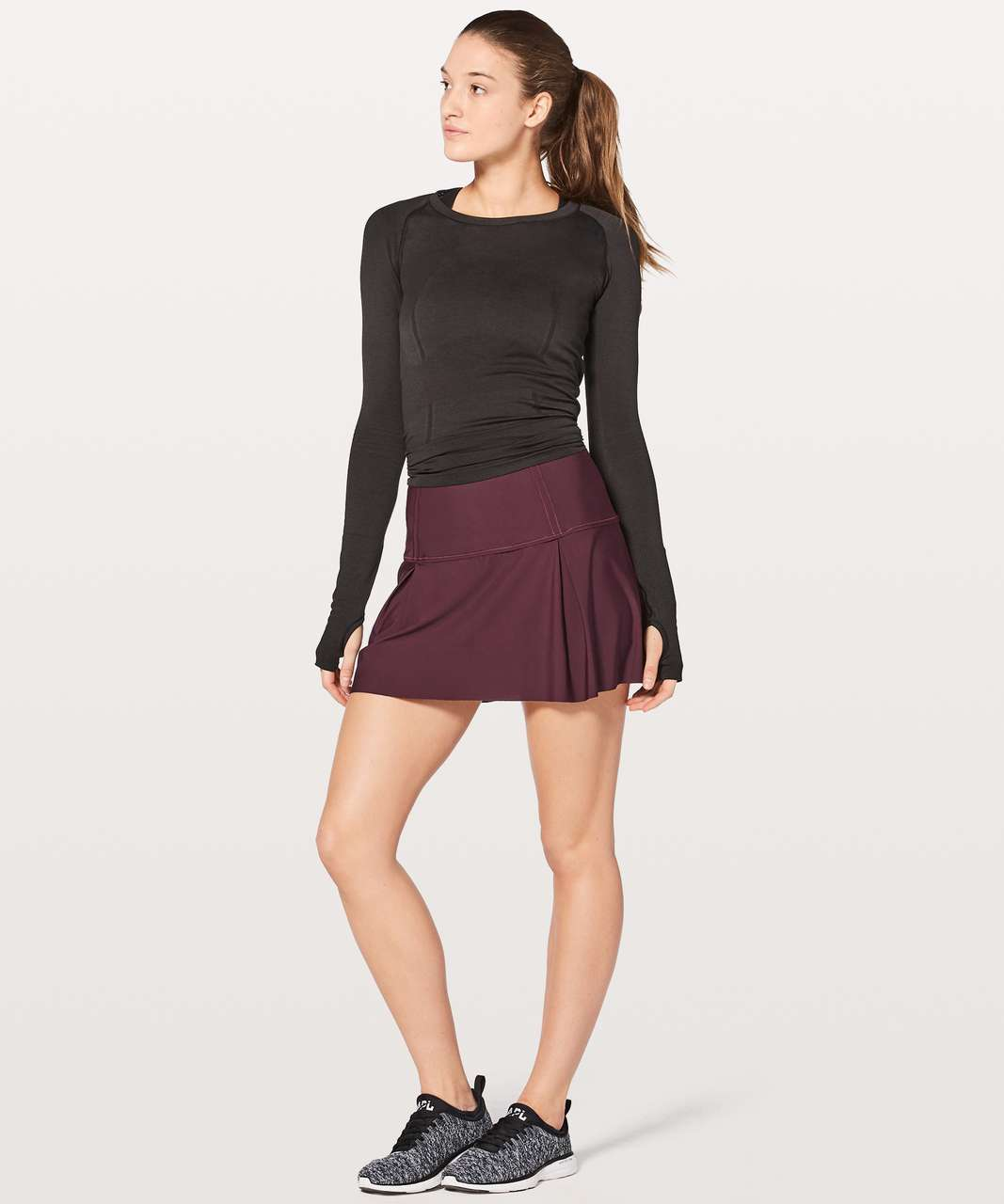"Lululemon Lost In Pace Skirt (Tall) 15"" - Dark Adobe"