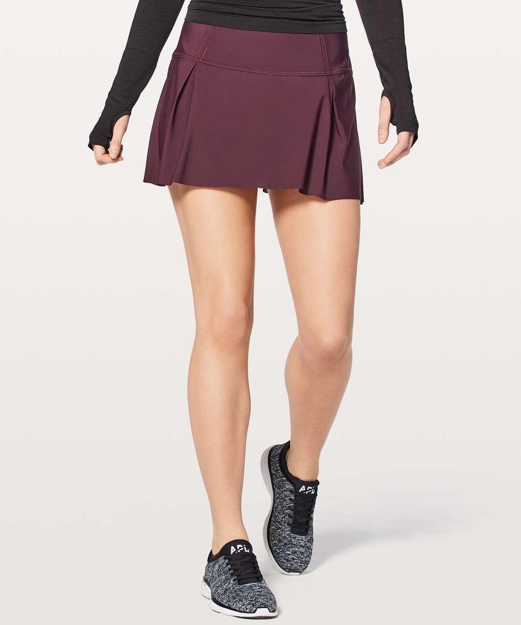 "Lululemon Lost In Pace Skirt (Tall) 15"" - Dark Adobe"