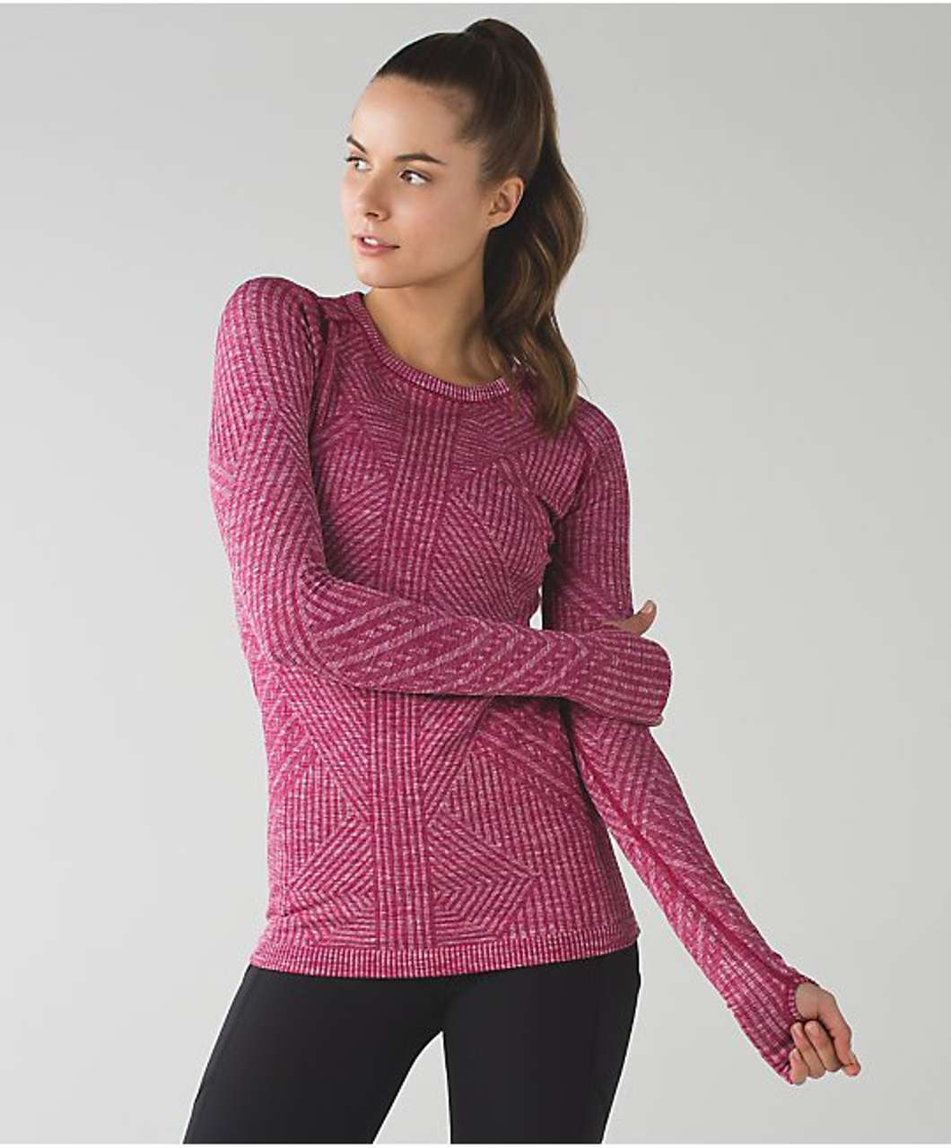 Lululemon Rest Less Pullover - Heathered Berry Rumble