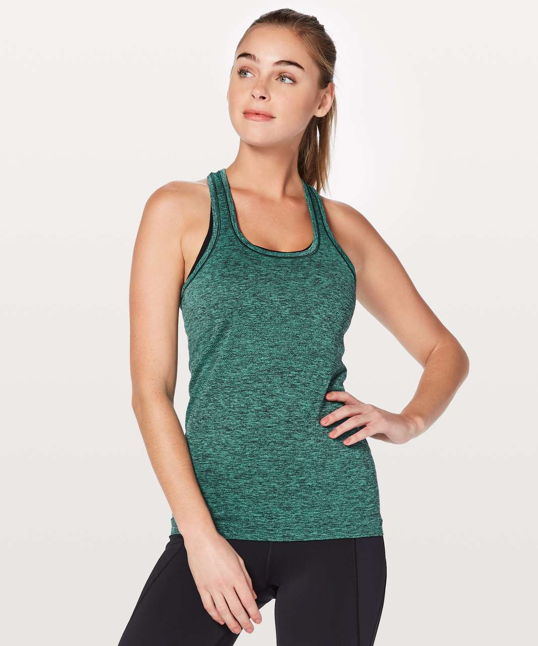 Lululemon Swiftly Tech Racerback - Eucalyptus / Black