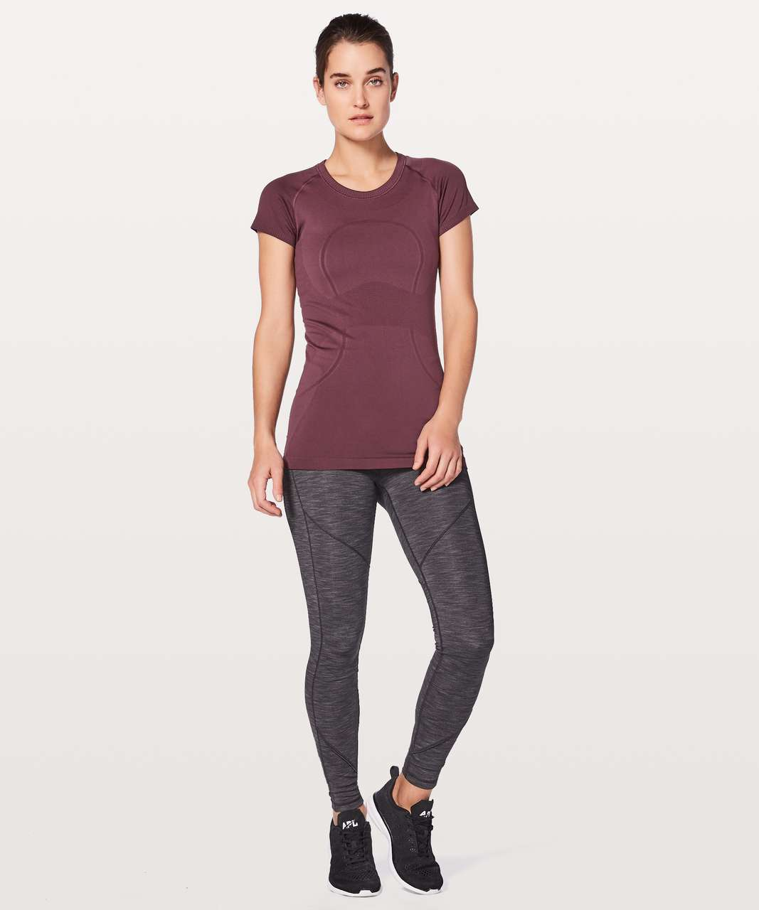 Lululemon Swiftly Tech Short Sleeve Crew - Redwood / Redwood