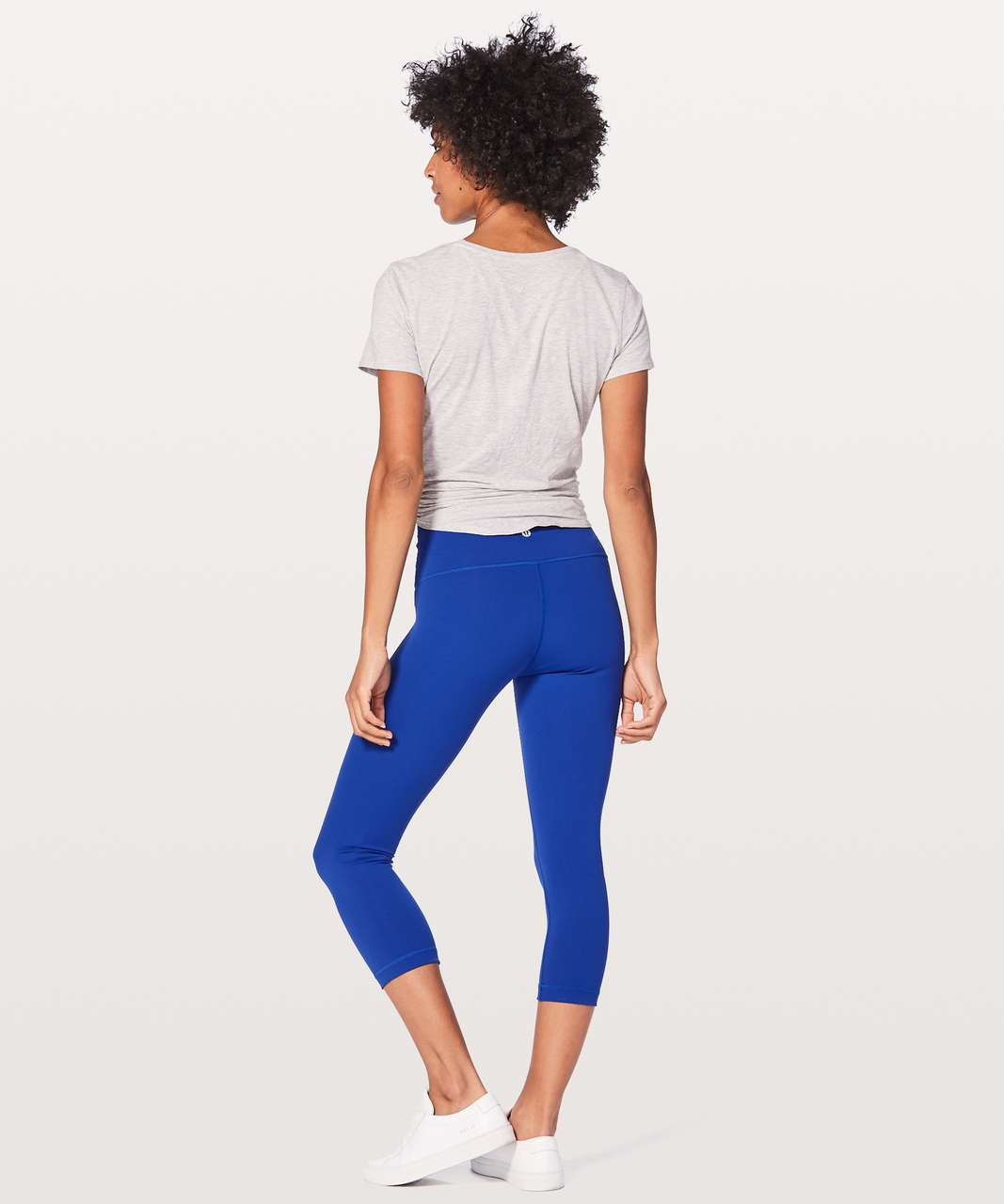 "Lululemon Wunder Under Crop (Hi-Rise) 21"" - Jet Stream"