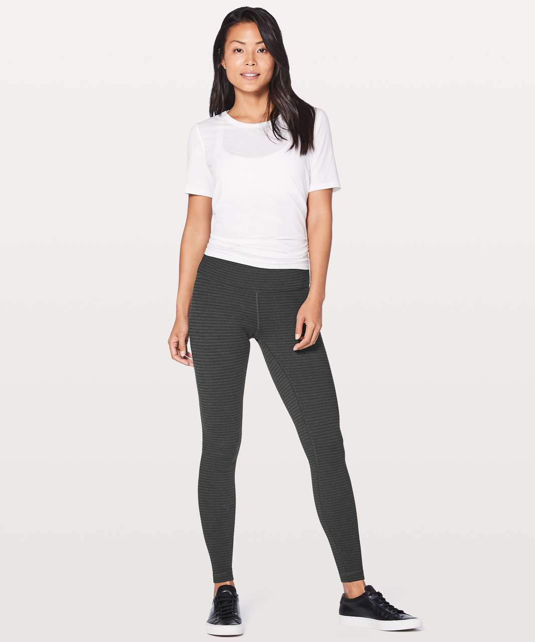 "Lululemon Wunder Under Hi-Rise Tight 28"" - Luon Pique Black Dark Slate"