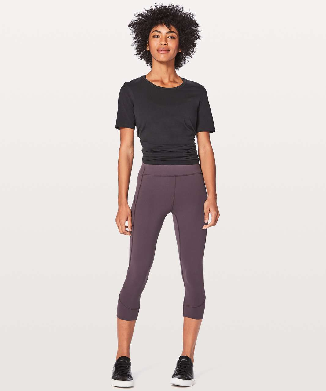 "Lululemon In Movement Crop *Everlux 19"" - Black Currant"